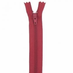 Fermeture 18cm rouge foncé
