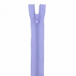 Fermeture 18cm lilas
