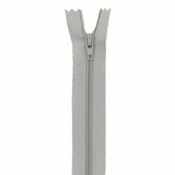 Fermeture 20cm gris argent