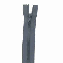 Fermeture 20cm gris plomb