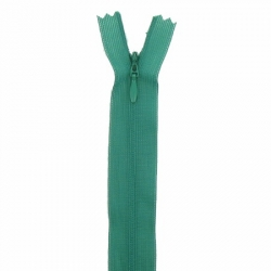 fermeture invisible 22 cm vert sapin
