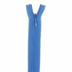 fermeture invisible 22 cm bleu