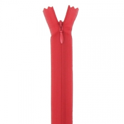 fermeture invisible 22 cm rouge