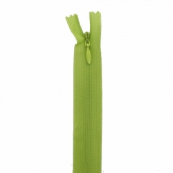 fermeture invisible 40 cm vert pomme