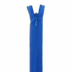 fermeture invisible 40 cm bleu roy