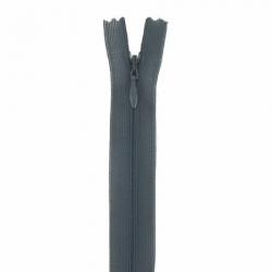 fermeture invisible 40 cm gris foncé