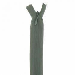 fermeture invisible 40 cm vert kaki