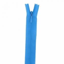 fermeture invisible 60 cm bleu turquoise