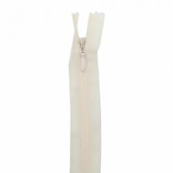 fermeture invisible 60 cm ivoire