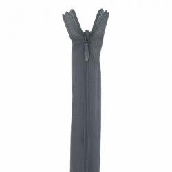fermeture invisible 60 cm gris