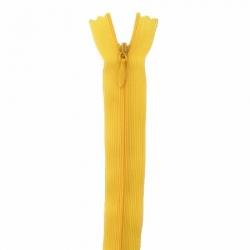fermeture invisible 60 cm jaune tournesol
