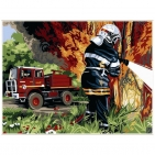 Canevas Complet Pompier feu