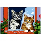 Canevas Complet Chatons Couple