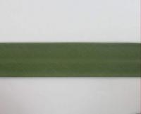 Biais textiles 40 mm kaki foncé