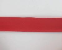 Biais textiles 40 mm rouge foncé