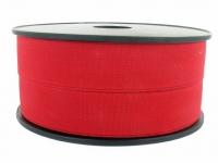 Elastique côtelé 25 mm rouge
