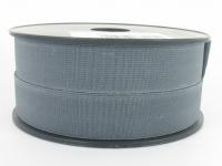 Elastique côtelé 25 mm gris