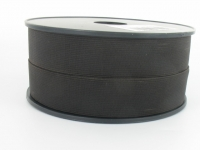 Elastique côtelé 25 mm marron