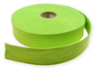 Sangle Coton 30mm vert pomme