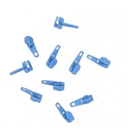 Sachet de 10 Curseur N°3 Bleu Azur