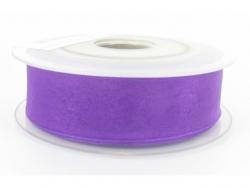 Ruban organdi 7mm violet