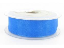 Ruban organdi 7mm bleu horizon