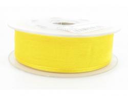Ruban organdi 7mm jaune