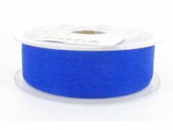 Ruban organdi 7mm bleu roy