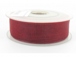 Ruban organdi 15mm bordeaux