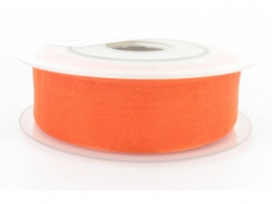 Ruban organdi 25mm orange