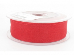 Ruban organdi 25mm rouge