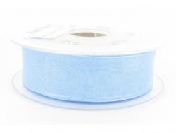 Ruban organdi 25mm bleu clair
