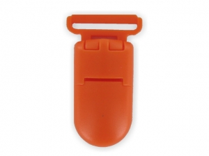 Clips plastique orange