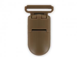 Clips plastique brun