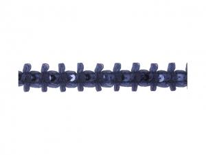 Galon Mousseline avec un nœud+paillettes 25mm bleu marine