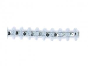Galon Mousseline avec un nœud+paillettes 25mm gris