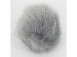 Pompon fourrure décoratif Gris foncé