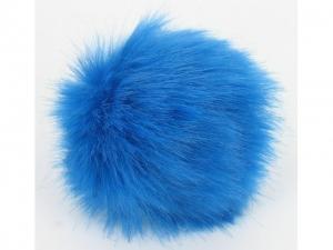Pompon fourrure décoratif Bleu
