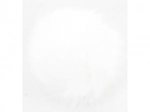 Pompon fourrure décoratif Blanc