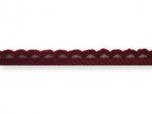 Dentelle coton 10 mm Bordeaux
