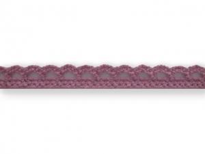 Dentelle coton 10 mm Vieux Rose