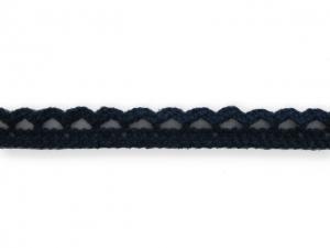 Dentelle coton 10 mm Marine
