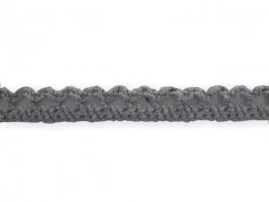 Dentelle coton 10 mm Gris