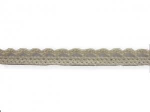 Dentelle coton 10 mm Écru