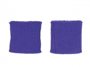Bord côte poignets violet