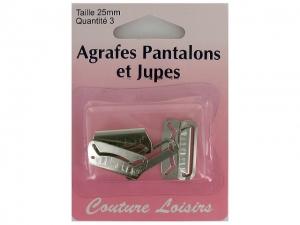 Agrafes plates pour jupe nickelé
