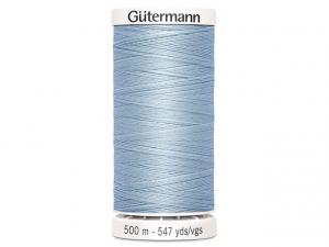 Fil à coudre Gütermann 500m col : 075 bleu ciel