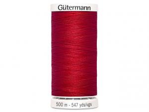 Fil à coudre Gütermann 500m col : 156 rouge vif