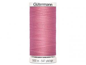 Fil à coudre Gütermann 500m col : 889 rose