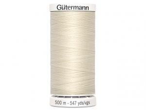 Fil à coudre Gütermann 500m col : 802 beige clair